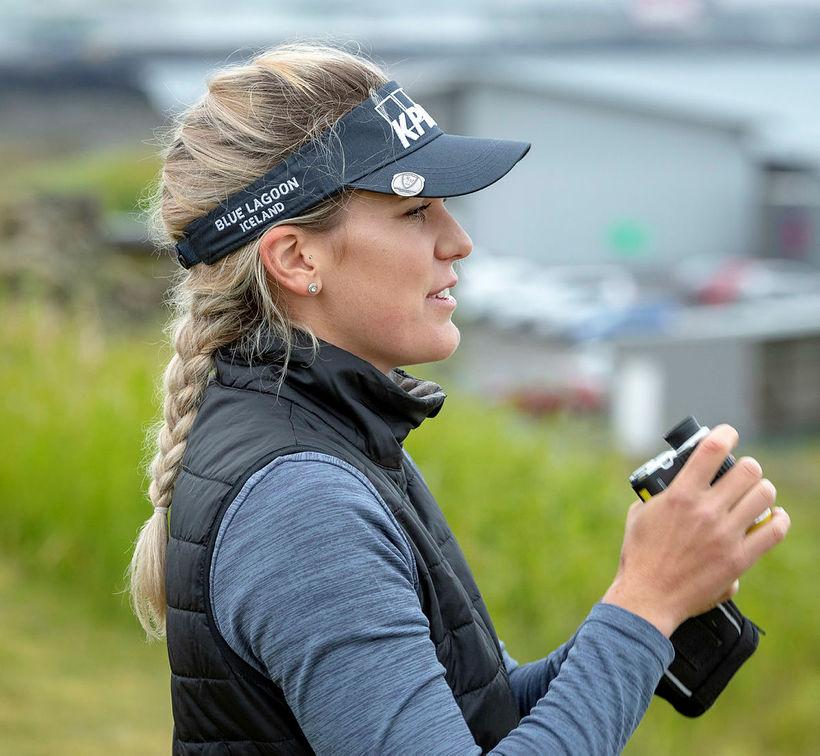 Ólafía Þórunn Kristinsdóttir er á sínu fyrsta LPGA-móti á þessu ...