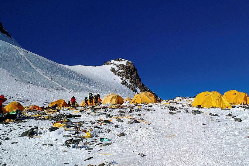 Fjórðu búðir Everest.