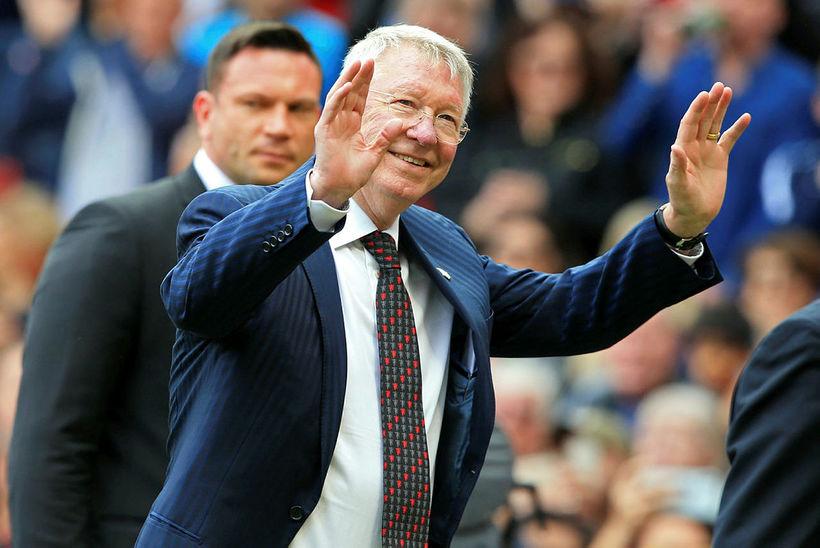 Sir Alex Ferguson var á hliðarlínunni hjá United.