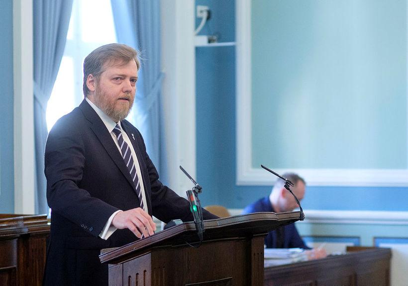 Sigmundur Davíð Gunnlaugsson formaður Miðflokksins hefur haldið 595 ræður á ...