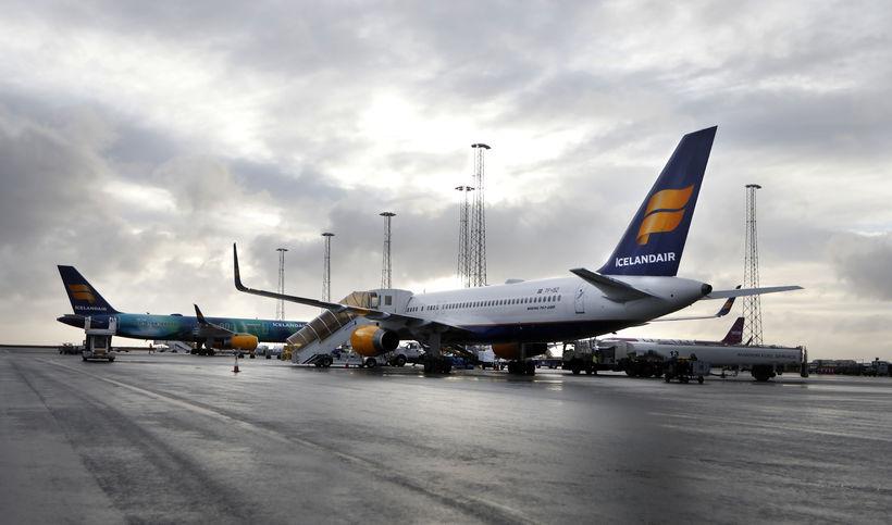 39 farþegar, sem áttu bókað flug með Icelandair, urðu eftir ...