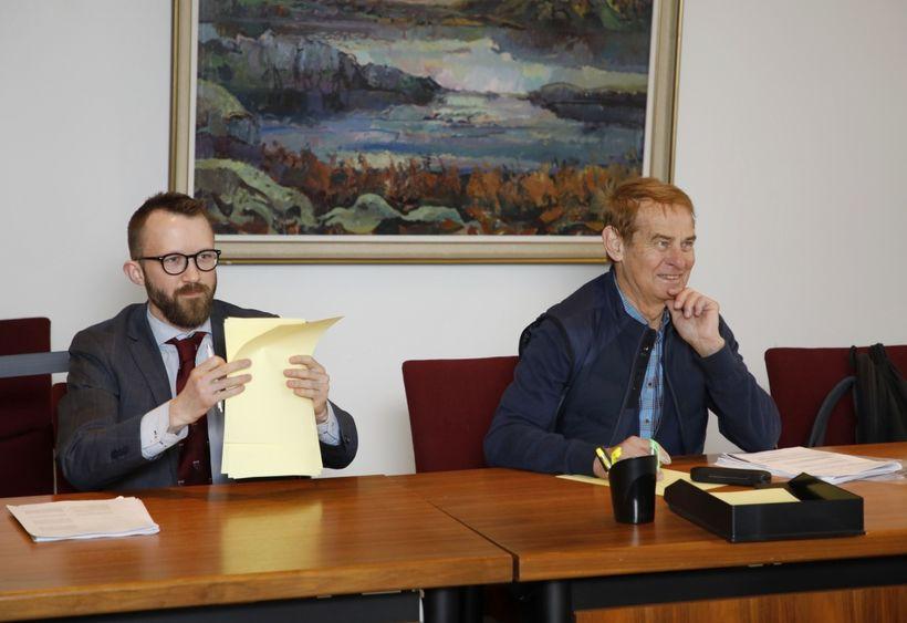 Friðrik Árni Friðriksson Hirst og Stefán Már Stefánsson á fundi ...