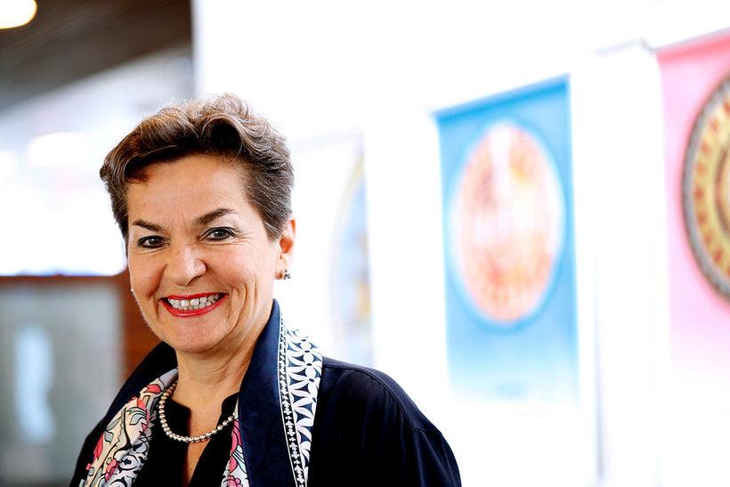 Christiana Figueres er stödd hér á landi.