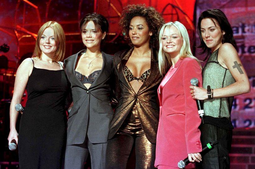 Hljómsveitin The Spice Girls var gríðarlega vinsæl á tíunda áratug …
