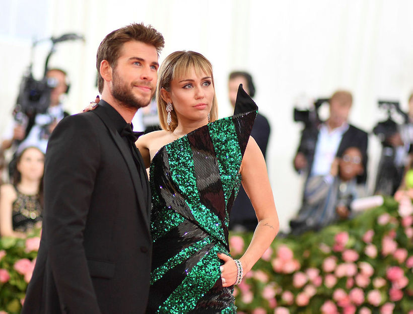 Liam Hemsworth og Miley Cyrus.
