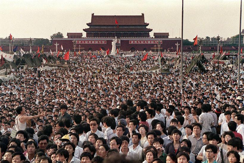 Tiananmen-torg 2. júní 1989.