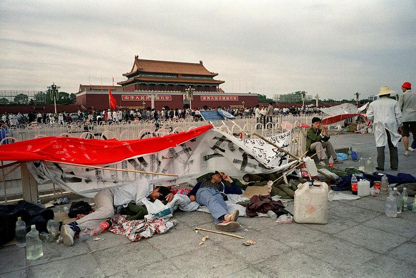 Tiananmen-torg 21. maí 1989, áður en blóðbaðið hófst.