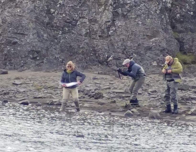 Fyrsta vaktin í Norðurá gaf sjö laxa. Það eru einu ...