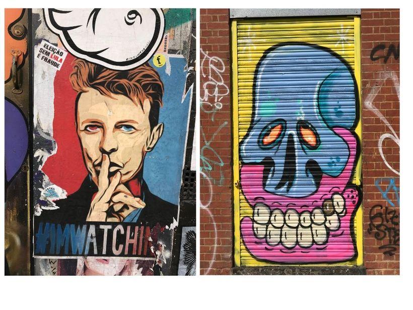 La diversidad es grandiosa. En una foto, David Bowie susurra ...
