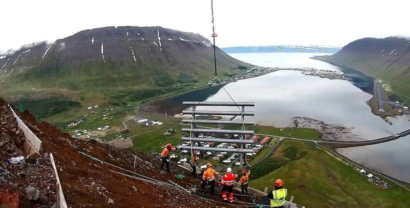A view over Ísafjörður, the West Fjords.