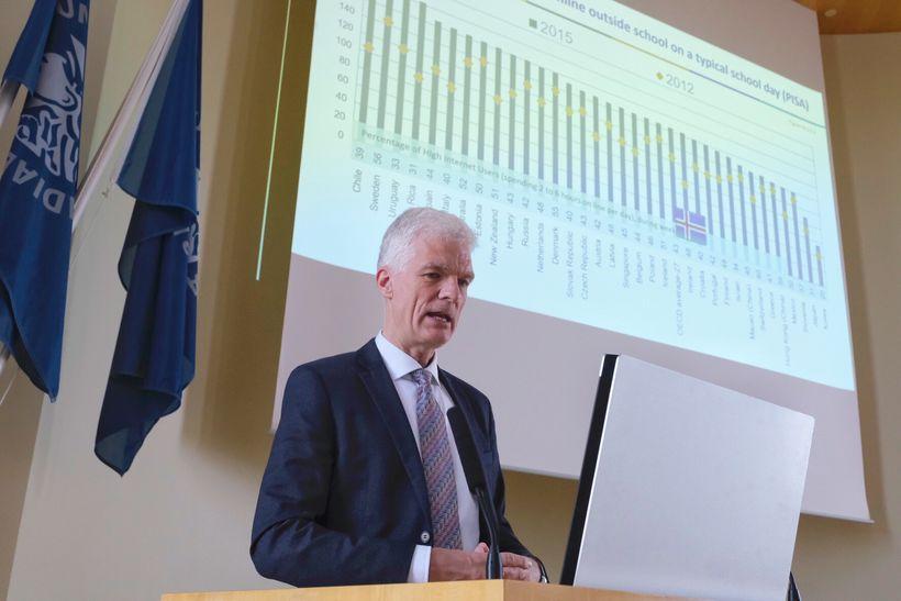 Andreas Schleicher er yfirmaður menntamála hjá OECD. Hann er hvatamaðurinn ...