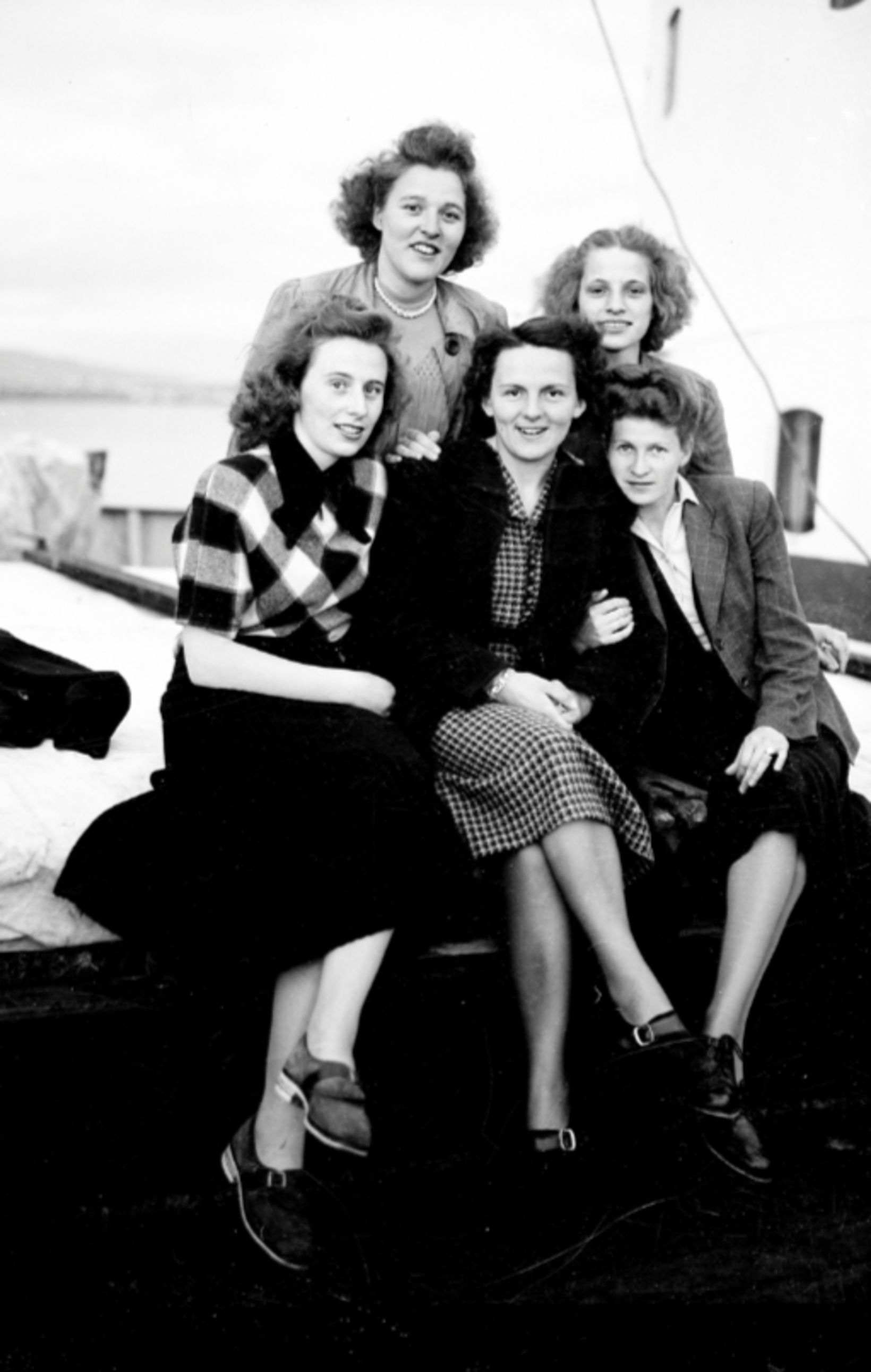 German women, just arrived in Iceland, June 8, 1949.