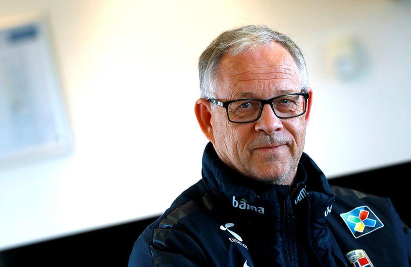 Lars Lagerbäck landsliðsþjálfari Norðmanna í knattspyrnu.