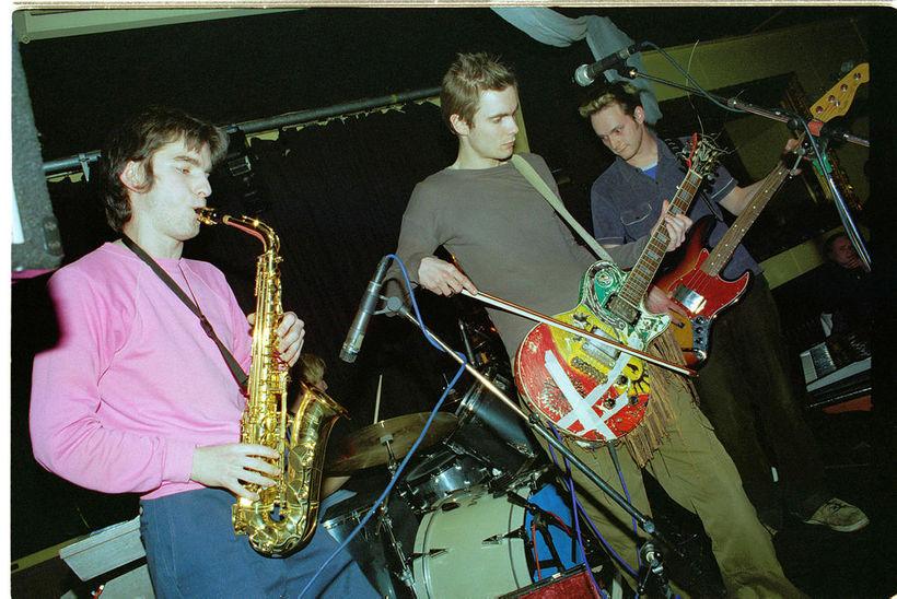 Sigur Rós á tónleikum á Gauknum árið 1999.