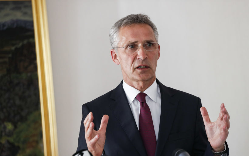 Framkvæmdastjóri NATO, Jens Stoltenberg, sagði aðildarríki NATO geta virkjað fimmtu ...