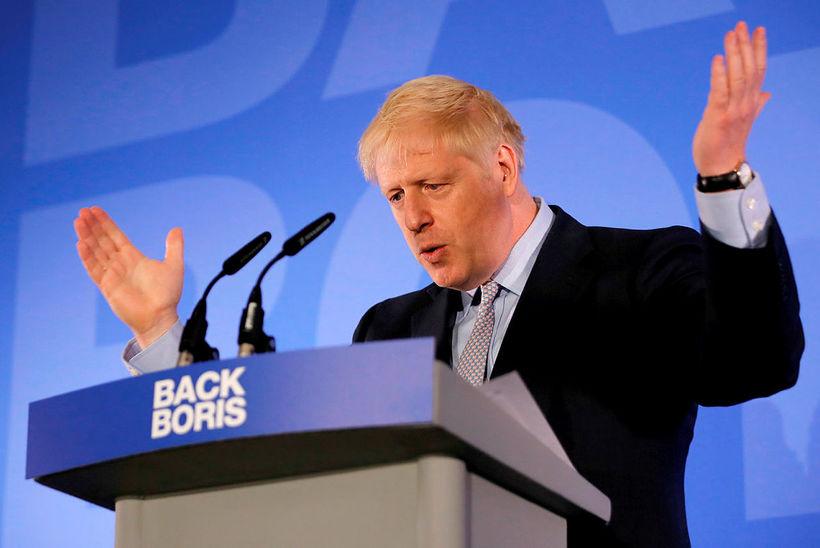 Boris Johnson tilkynnti formlega framboð sitt til laiðtoga Íhaldsflokksins í ...