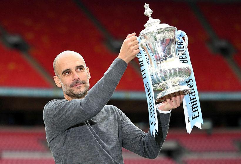 Pep Guardiola hefur stýrt liði Manchester City frá árinu 2016.