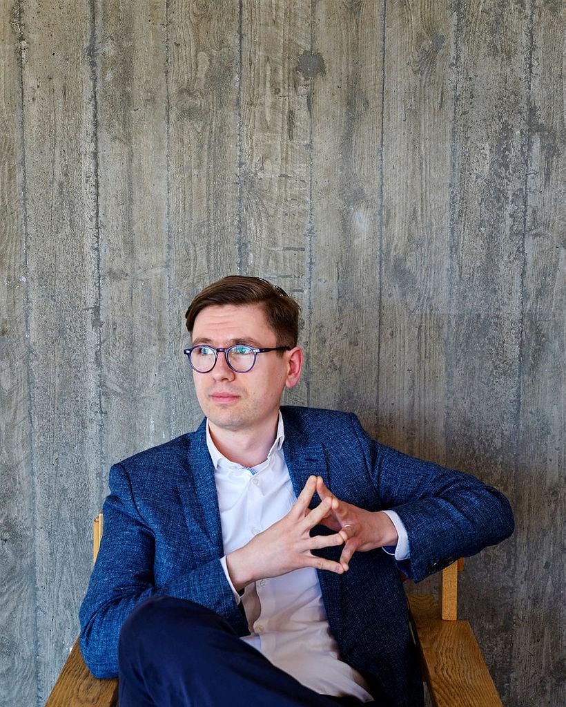 Víkingur Heiðar Ólafsson píanóleikari.