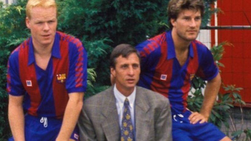 Ronald Koeman, Johan Cruyff og Michael Laudrup.