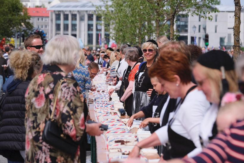 The birthday cake in downtown Reykjavík was 75-m long, served ...