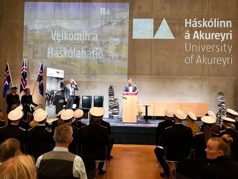Guðmundur Ævar Oddsson, dósent og brautarstjóri lögreglunáms Háskólans á Akureyri, ...