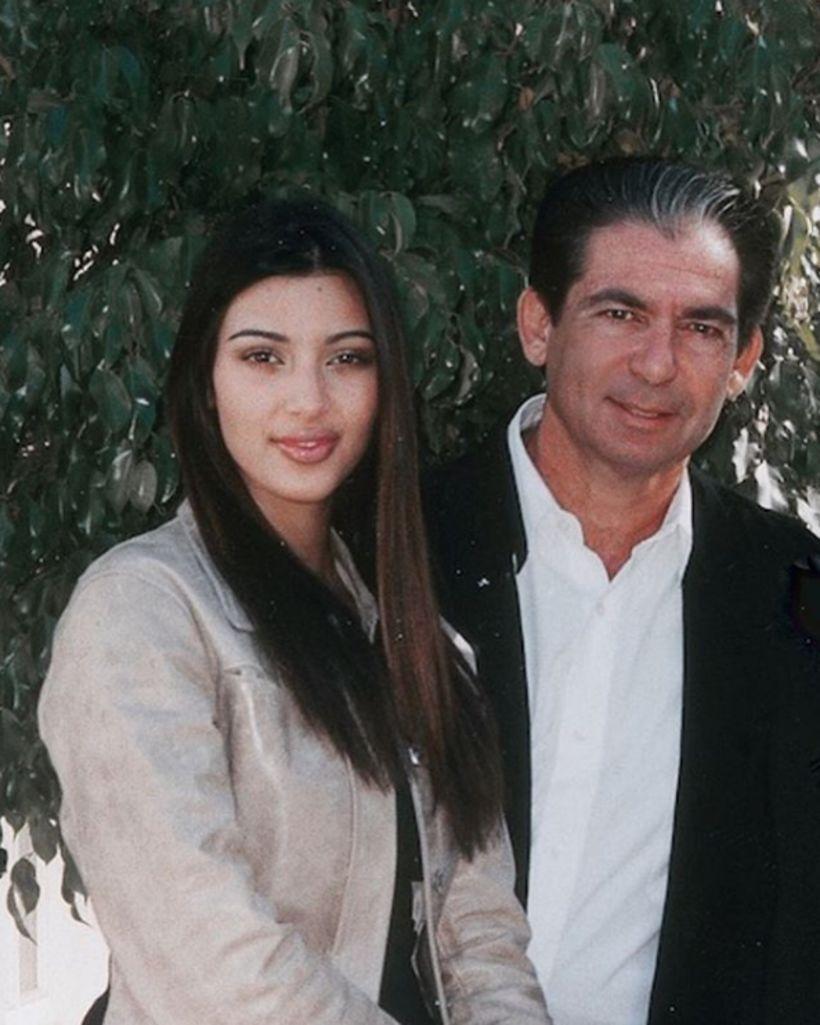 Kim Kardashian ásamt föður sínum Robert Kardashian.