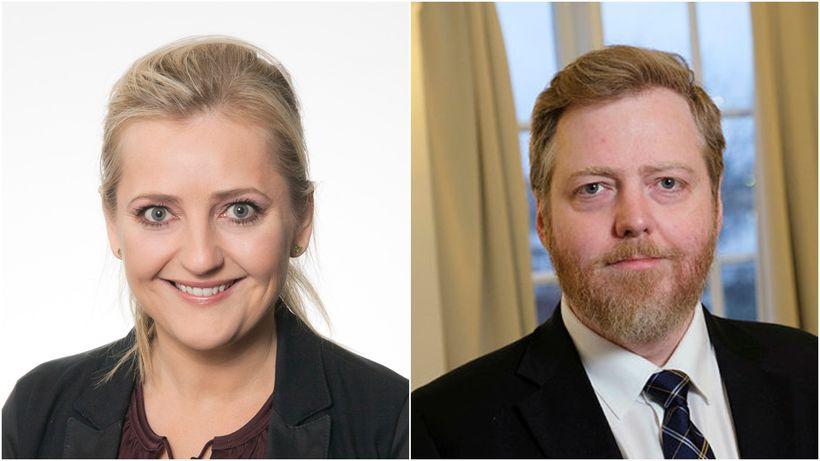 Nanna Margrét og Sigmundur Davíð Gunnlaugsbörn sitja nú saman á ...