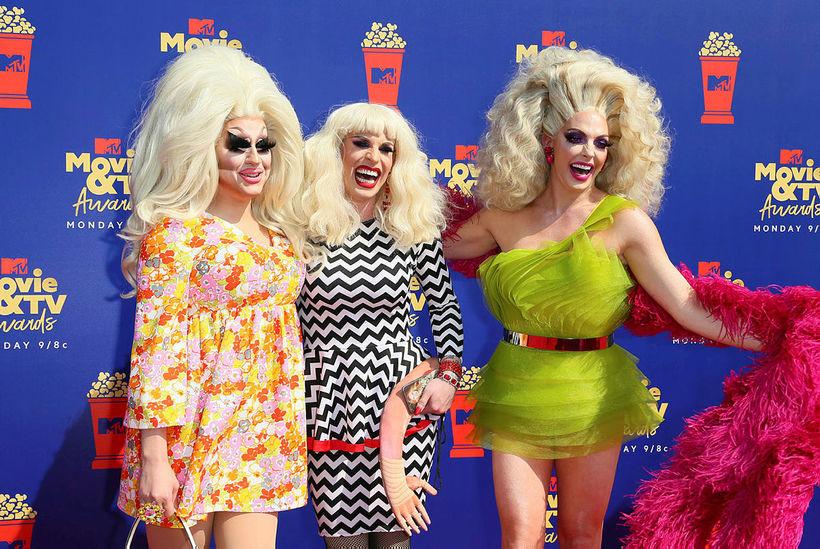 Trixie Mattel, Katya Zamolodchikova og Alyssa Edwards glæsilegar.