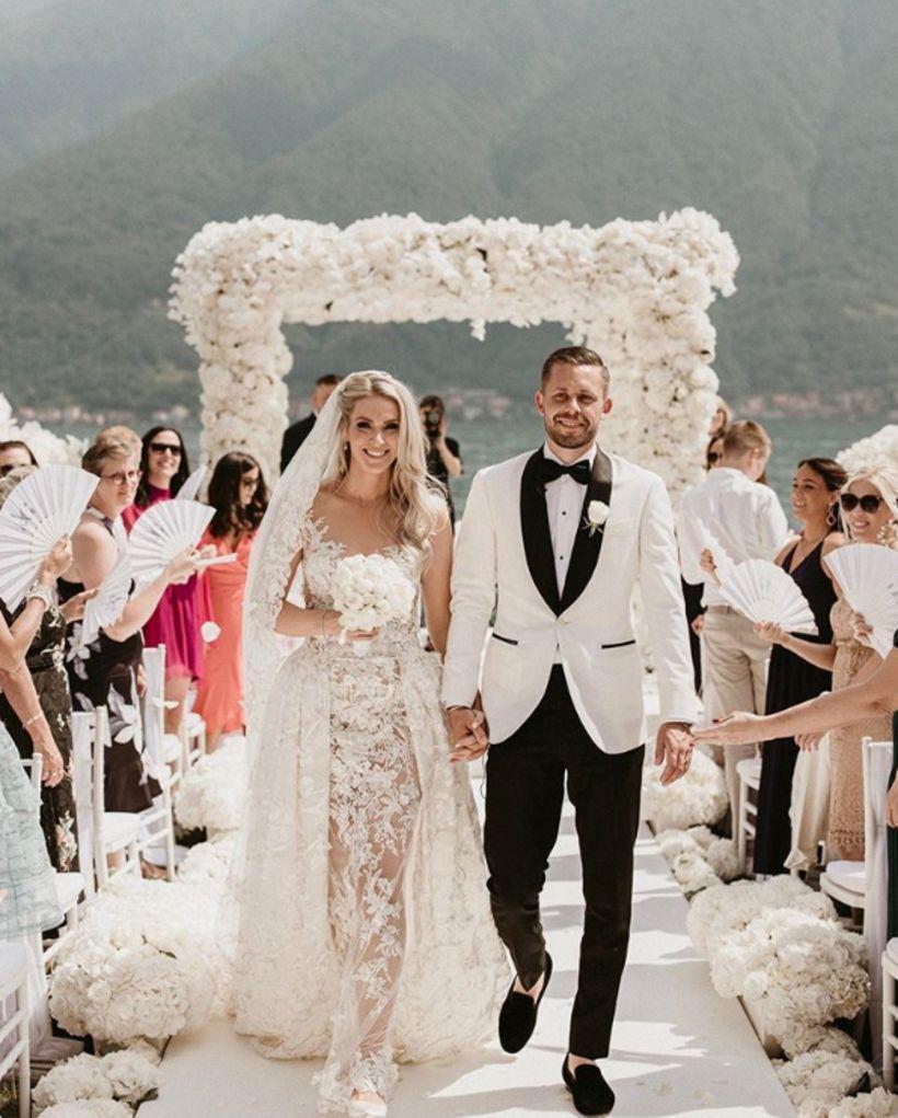 Gylfi og Alexandra giftu sig á Ítalíu um helgina.