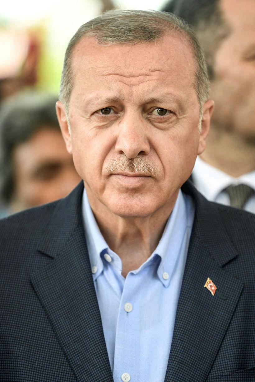 Erdogan hefur lítið látið á sér bera í aðdraganda kosninganna …