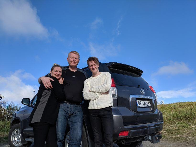 Hege Guldbjørnsen, Sigurður Hjaltested og Nicolai Tjelde Guldbjørnsen, systursonur Hege, ...