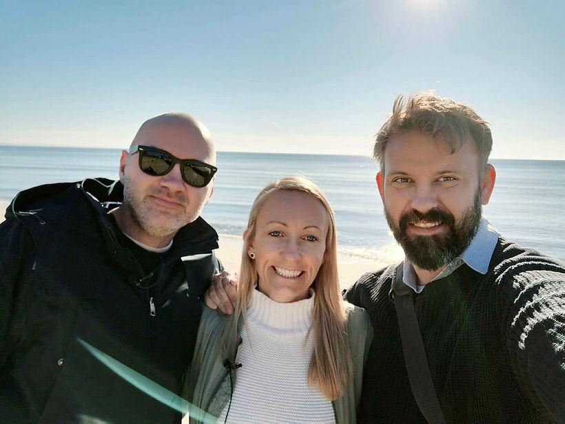 Gunnlaugur Jónsson, Elísabet Gunnarsdóttir og Ragnar Hansson fóru yfir málin ...