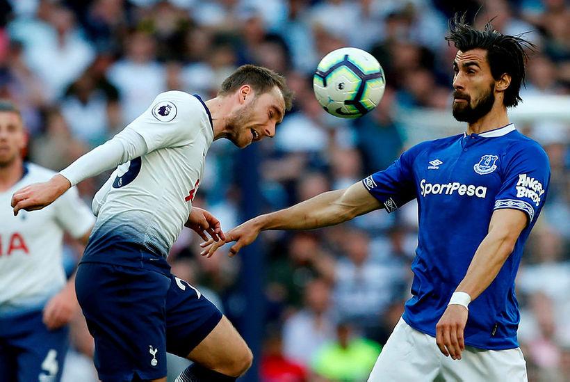 André Gomes verður áfram hjá Everton.