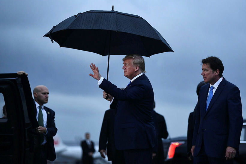 Donald Trump Bandaríkjaforseti er kominn til Osaka í Japan þar ...