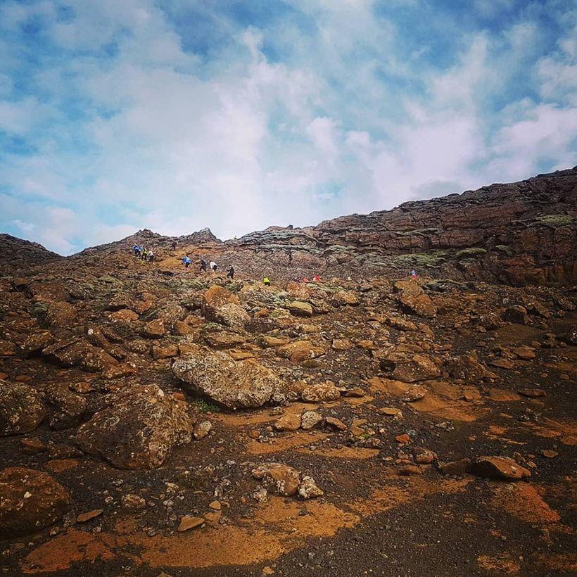 Árstíðarhlaupið fór fram í dásamlega fallegu veðri og umhverfi.