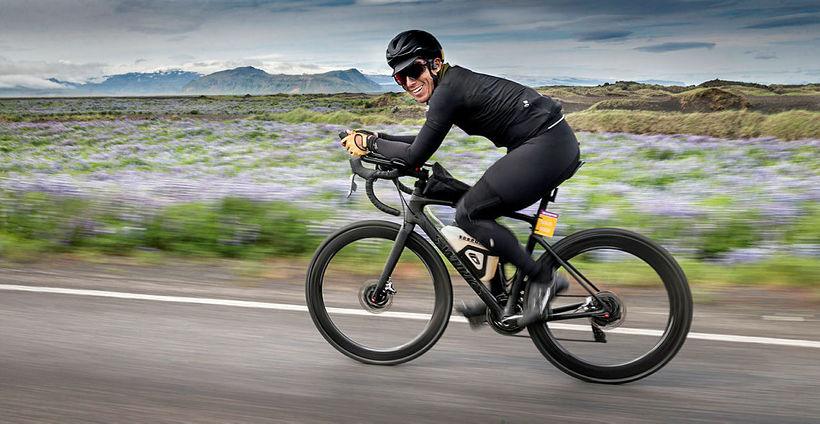 Chris Burkard, racing past Vík í Mýrdal, South Iceland.