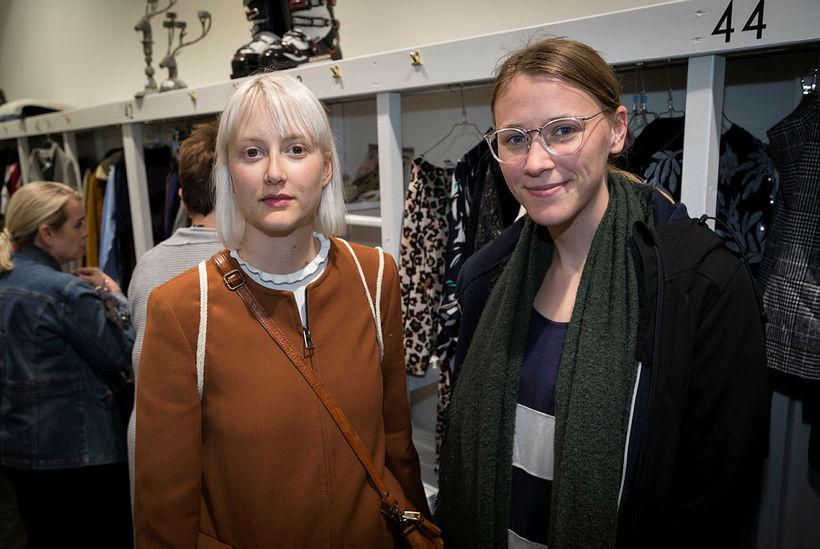 Perla Hafþórsdóttir og Dóra Magnea Hermannsdóttir.
