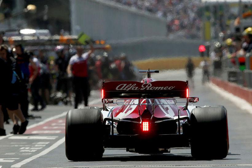 Kimi Räikkönen á ferð.