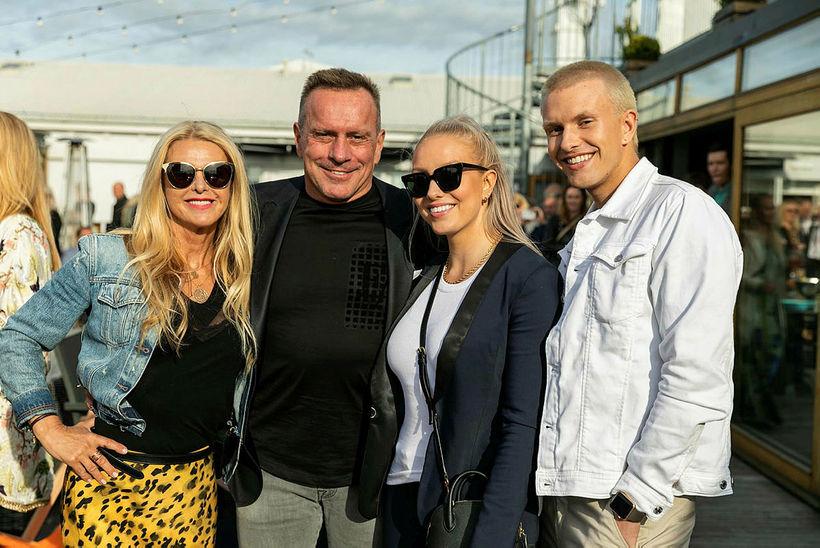 Hafdís Jónsdóttir, Björn Leifsson, Birgitta Líf og Björn Boði.