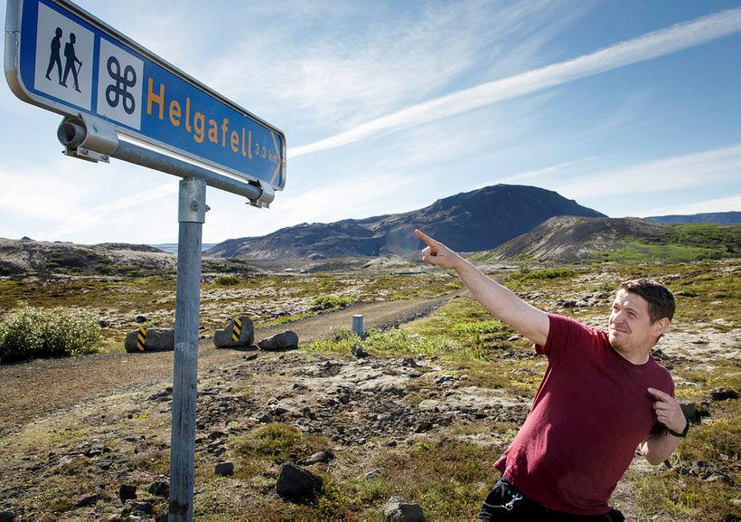 Hjálmar Friðbergsson líkir eftir heimsþekktu fagni Usains Bolts, sprettharðasta manns ...
