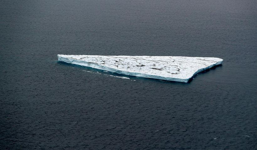 Jakinn var um 300 metrar að lengd samkvæmt ratsjármælingum.