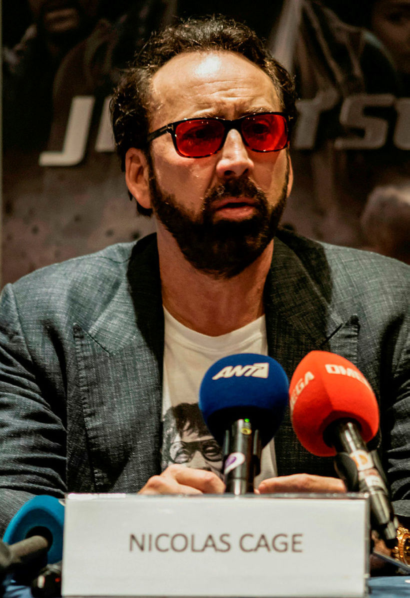 Nicolas Cage lék áfengisfíkil í myndinni Leaving Las Vegas og …