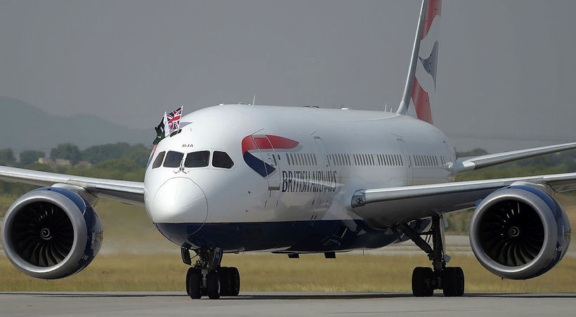 Flugvél British Airways.