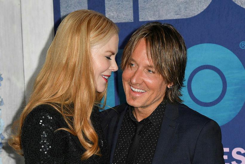 Nicole Kidman ásamt eiginmann sínum Keith Urban árið 2019.