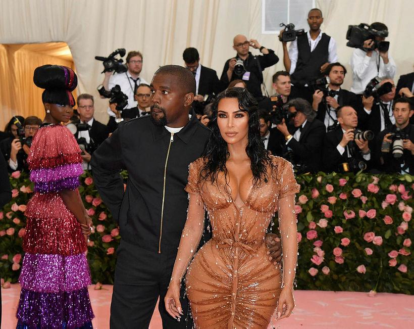 Kim Kardashian ásamt Kanye West í maí árið 2019.