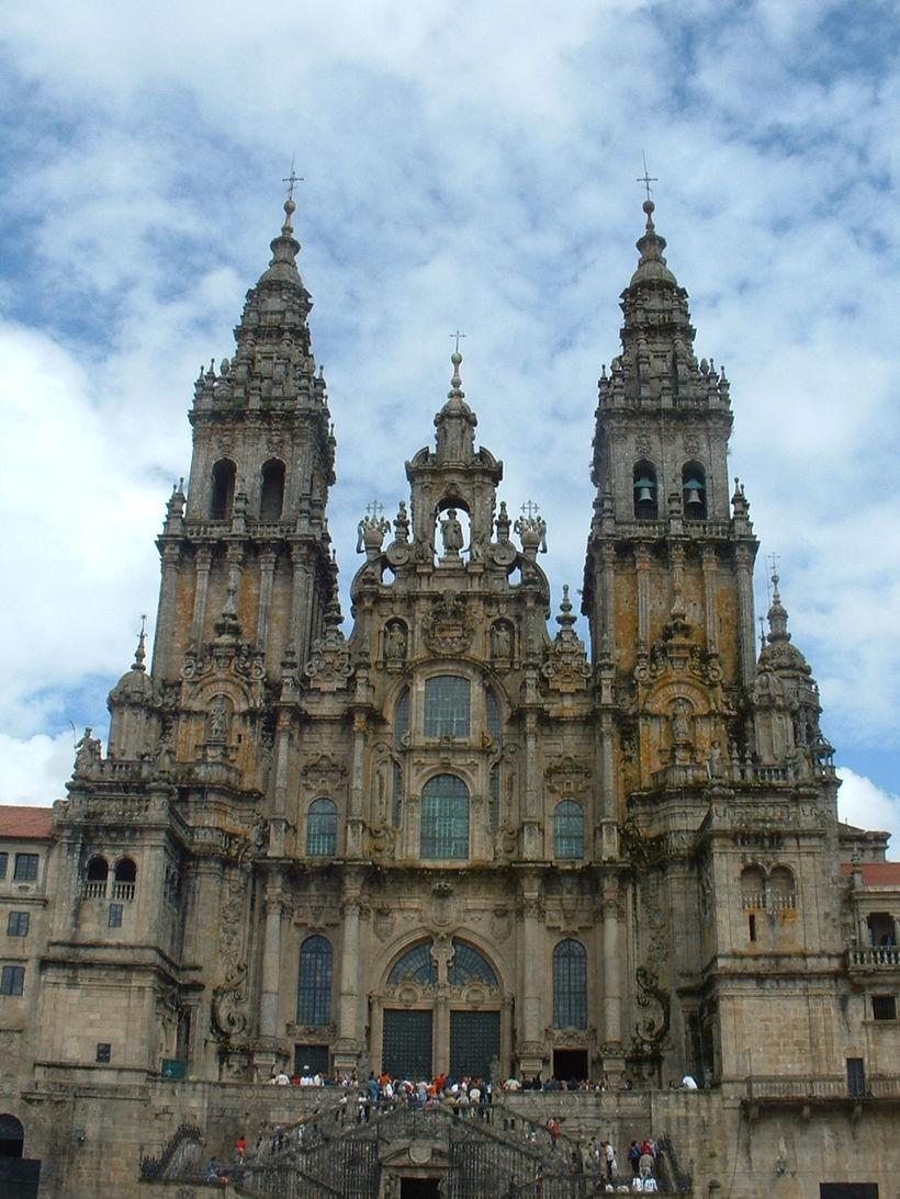 Að komast að dómkirkjunni í Santiago de Compostela, þar sem ...