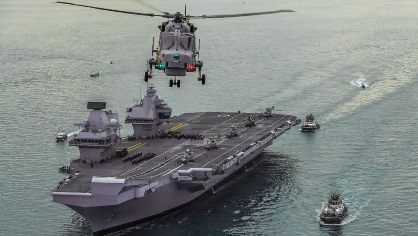 Leki uppgötvaðist í HMS Queen Elizabeth í gær. Flaggskip breska ...