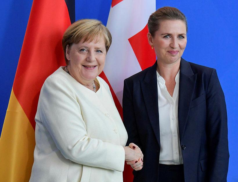 Angela Merkel var augljóslega hressari í dag en í gær.
