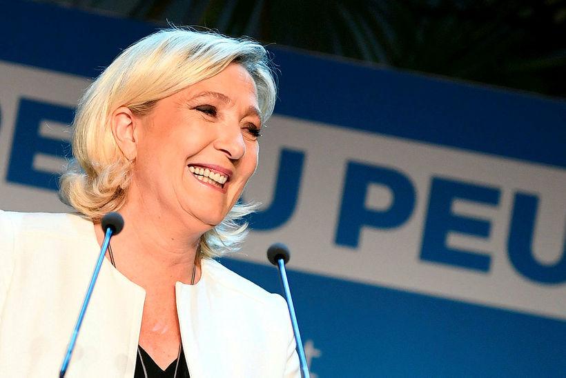 Formaður Rassemblement National (RN), Marine Le Pen, er þingmaður á ...