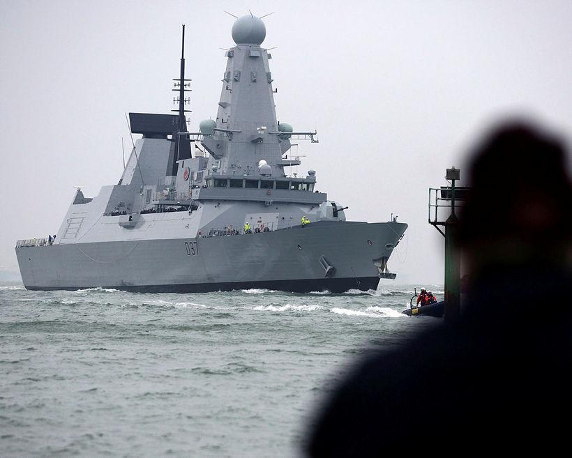 Breski tundurspillirinn HMS Duncan.